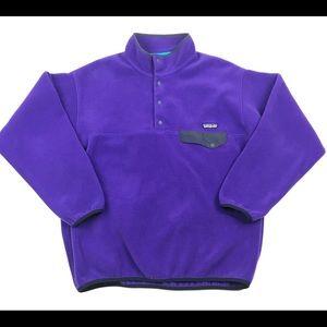 Men's Patagonia Snap T Pullover Fleece Purple L
